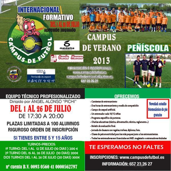 IX Campus internacional de fútbol formativo de Peñiscola 2013